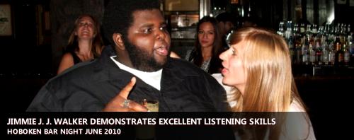 Jimmie J. J. Walker demonstrated excellent listening skills | Hoboken Bar Night, June 2010